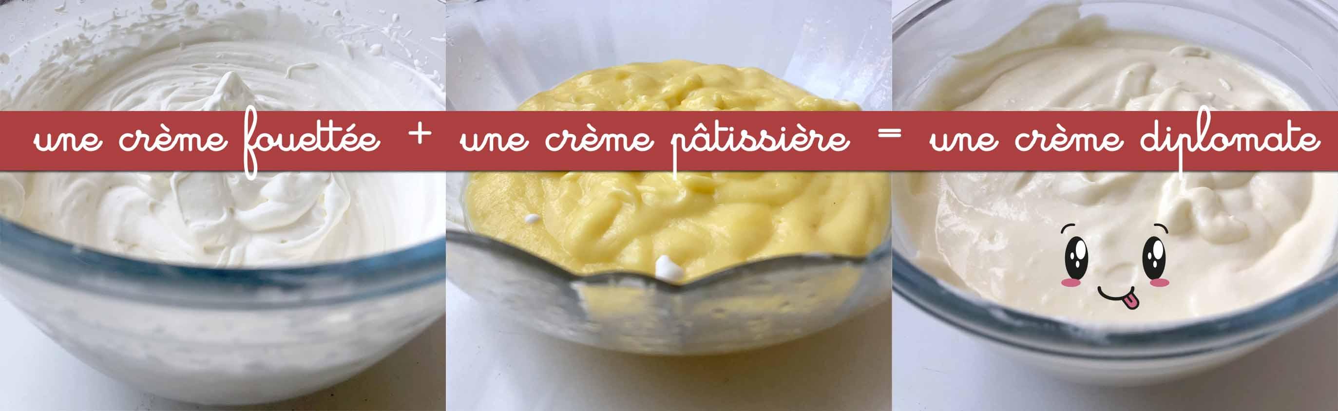crème diplomate - fraisier anniversaire