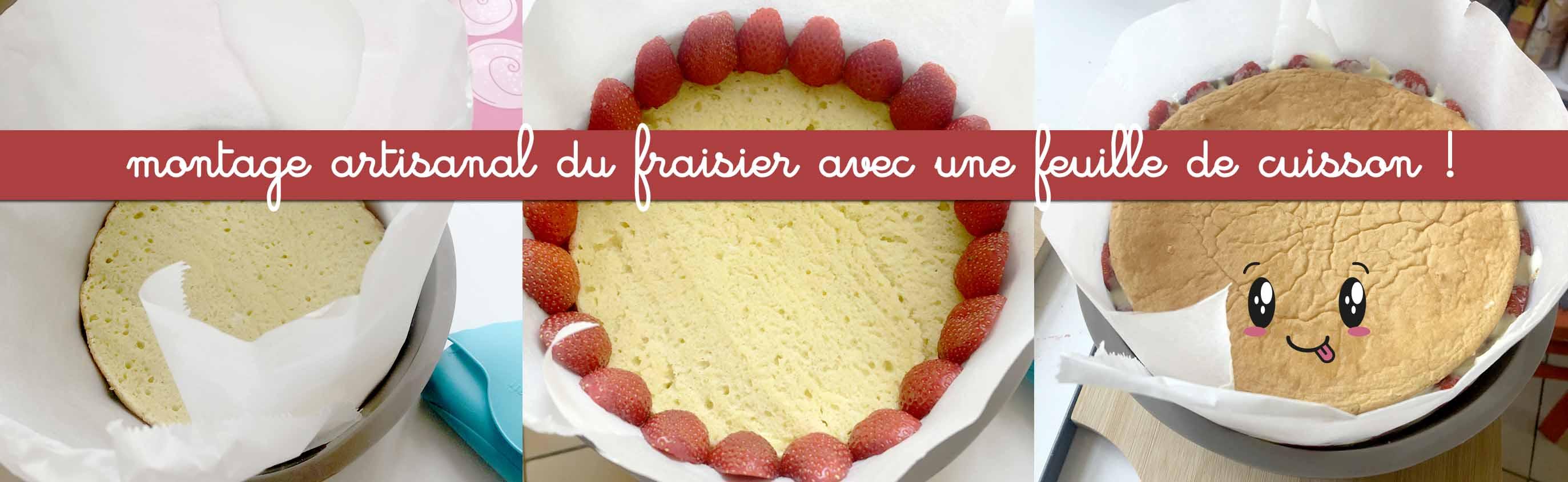 montage du fraisier anniversaire